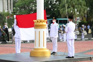 Paskibraka, Upacara HUT RI, Muara Enim, Pengibaran Bendera Merah Putih