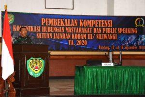 PWI Kota Bandung, Pasiter Kodim, Pembekalan Public Speaking, Public Speaking, Source Of Information, referensi resmi, Penyebaran Covid-19, Pembekalan Kompetensi