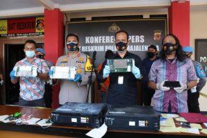 Polres Majalengka, PT. Indosat, Desa Cimeong, penyimpanan baterai, konferensi pers, pencurian terhadap TBG, Tower Bersama Grup
