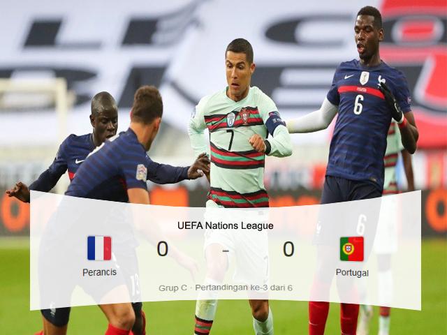 Skor Pertandingan, UEFA Nations League, Perancis vs Portugal, Perancis, Portugal, Liga Eropa, Skor Imbang