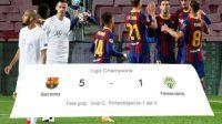 Skor Pertandingan, Barcelona, Liga Champions, Puncak Klasemen