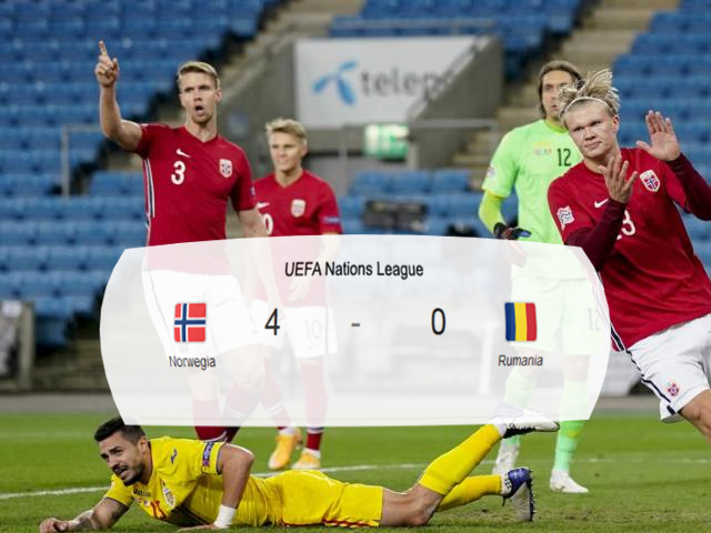 Norwegia vs Rumania, Liga UEFA, League B Grup, Nations League Grup B1, Norwegia, Rumania, Hat Trick Haaland, Hat Trick, Skor Pertandingan