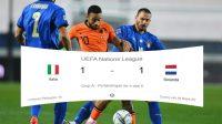 Skor Imbang, Skor Pertandingan, UEFA Nations League, Italia vs Belanda, Italia, Belanda, skor hari ini, pertandigan hari ini