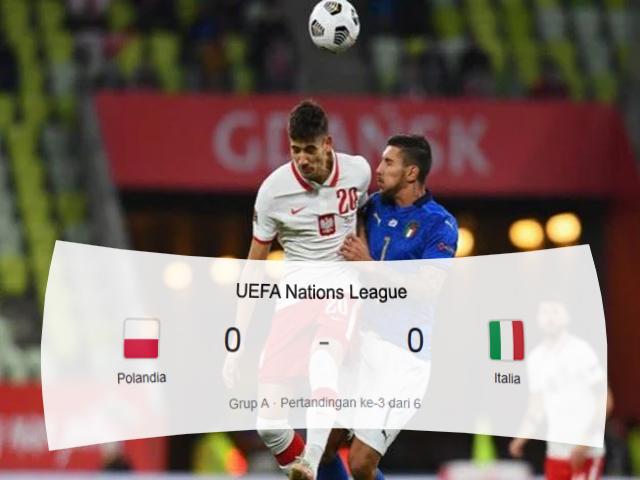 Polandia vs Italia, Liga UEFA, UEFA Nations League, Skor Pertandingan, Skor Imbang, Polandia, Italia