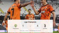 Skor Ferencvaros vs Juventus, Skor Pertandingan, Liga Champions, juve unggul empat gol