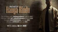 hanya rindu, Andmesh Kamaleng Hanya Rindu, kunci gitar, Top 100 Lagu Tahun Ini, Nominasi Billboard Indonesia Music Awards