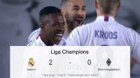 Perjuangan Madrid, Madrid vs Monchengladbach, Kamar Ganti, membentur tiang gawang, Umpan Silang, Sundulan Terarah