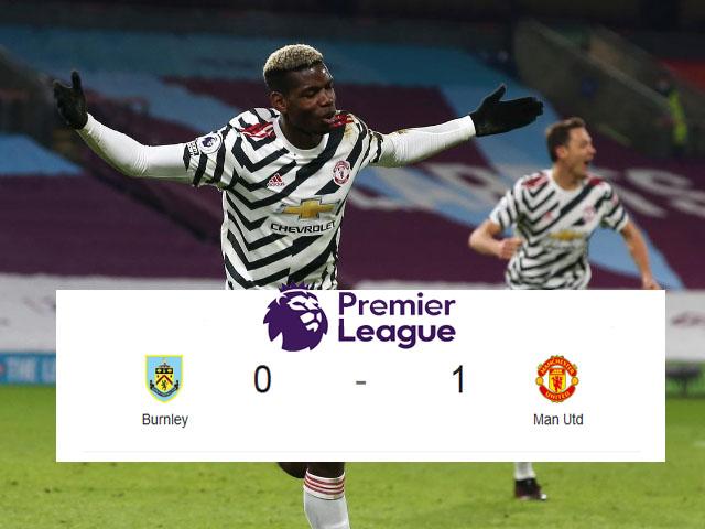 Skor Burnley Melawan Manchester United, MU menang tipis