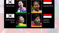 Pasangan Ganda Putri Indonesia, Greysia - Apriyani tumbang, Toyota Thailand Open 2021