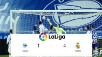 Pertandingan Alaves vs Real Madrid, Skor La Liga