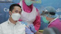 Sekda Kota Palembang, Di Vaksin