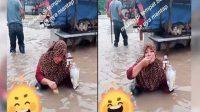 makan di tengah banjir, makan saat banjir
