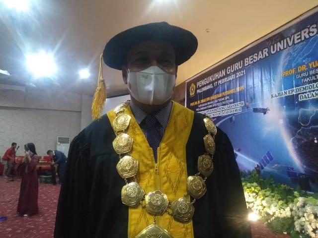 Dua Guru besar, puluhan ribu doktor mengantri, kualitas tulisan, Unsri Kukuhkan Guru Besar, Jurnal Setaraf Nasional