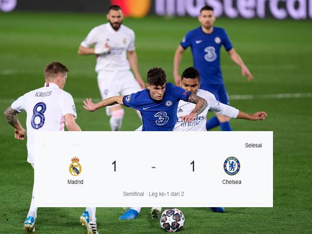 Chelsea berhasil mengimbangi Real Madrid, striker teratas dunia