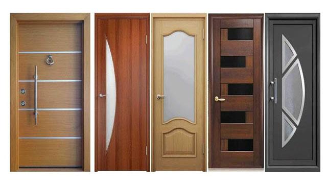 desain pintu baja, pintu kayu