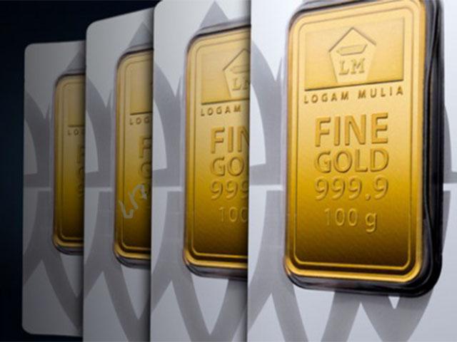 harga emas batangan 24 karat turun