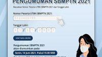 pengumuman hasil SBMPTN