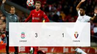 Liverpool Bungkam Osasuna, The Reds tampil dominantanpa pemain inti