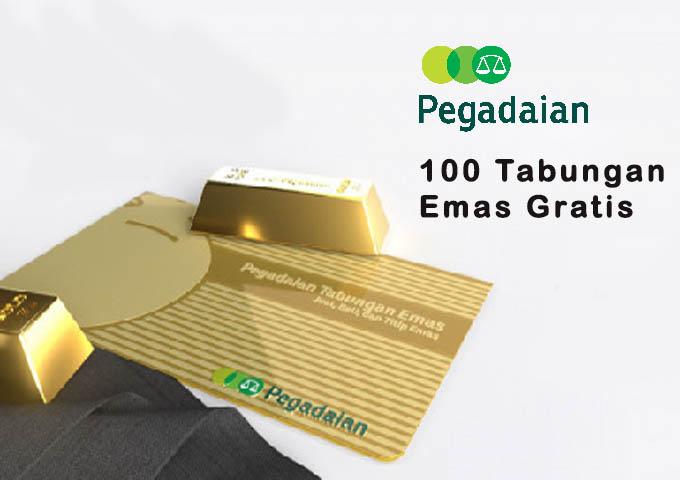 100 Tabungan Emas Gratis