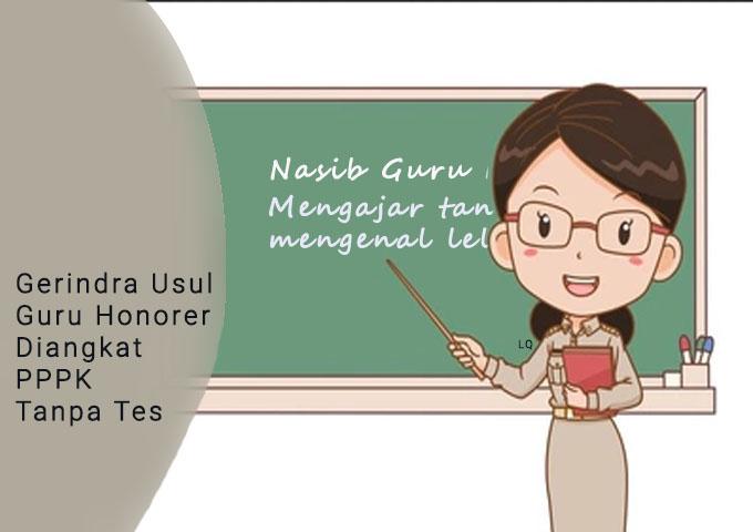 Guru Honorer Diangkat PPPK Tanpa Tes, guru honor mengabdi puluhan tahun
