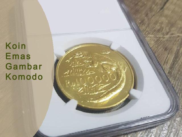 uang koin zaman dulu, Koin Emas Gambar Komodo