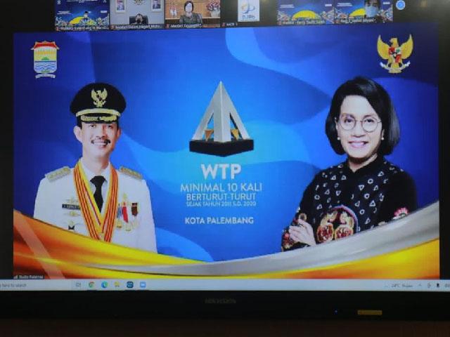 Palembang Mendapat Penghargaan WTP, Predikat Wajar Tanpa Pengecualian