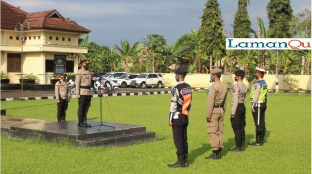 Suasana Apel Operasi Patuh Musi 2021 Dipimpin Langsung Kapolres Oku Selatan AKBP Indra Arya Yudha, S.H, S.I.K., M.H (Foto Doc Humas Polri go id)