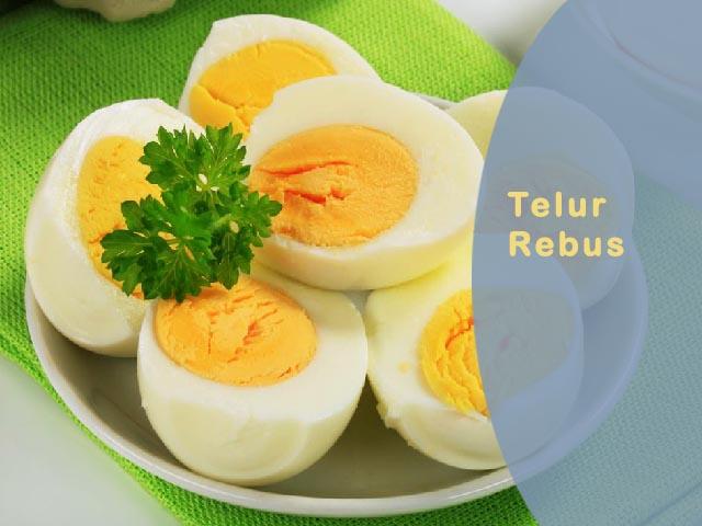 olahan telur rebus, cara memasak telur