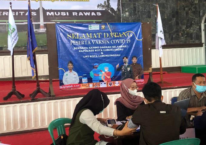 vaksinasi dosis pertama, vaksinasi untuk mahasiswa, Universitas Musi Rawas
